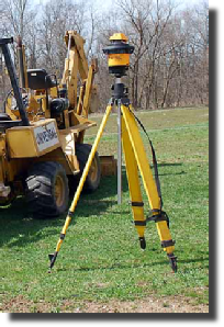 Precision laser to guide trenching and excavation