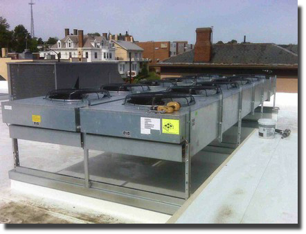 Roof top HVAC installation