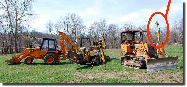 Laser guided trenching and excavating